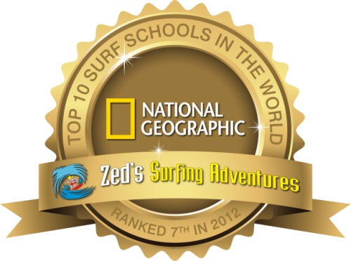 national geographic top surf schools logo